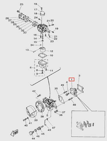 Впускные клапана в сборе  для лодочного мотора T5 Sea-PRO
