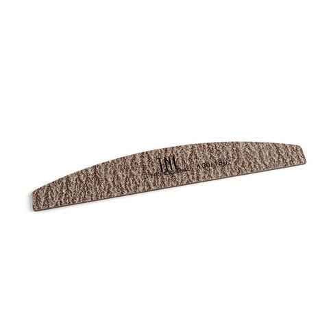 Пилка для ногтей лодочка 100/180 экстра-класс (коричневая) в индивидуальной упаковке
