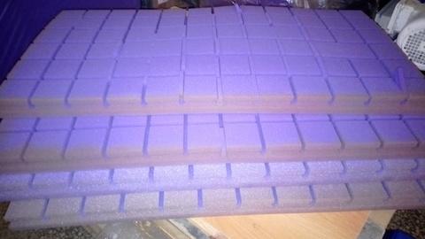Акустический поролон Echoton Kvadra фиолетовый