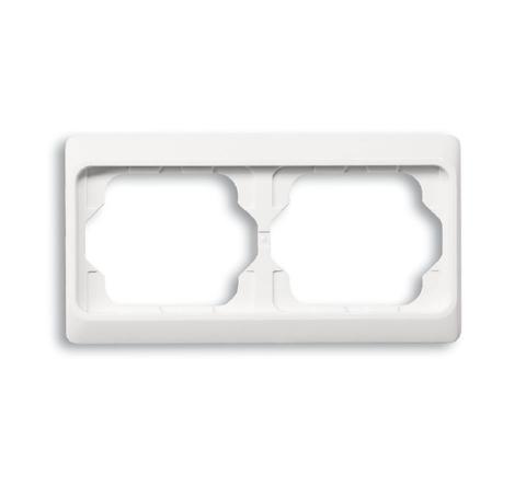 Рамка на 2 поста, горизонтальный монтаж. Цвет Белый глянцевый. ABB(АББ). Alpha Exclusive(Альфа Эксклюзив). 1754-0-2999