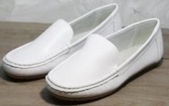 Летние женские мокасины AESD 902 White