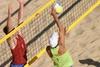 Сетка для пляжного волейбола.