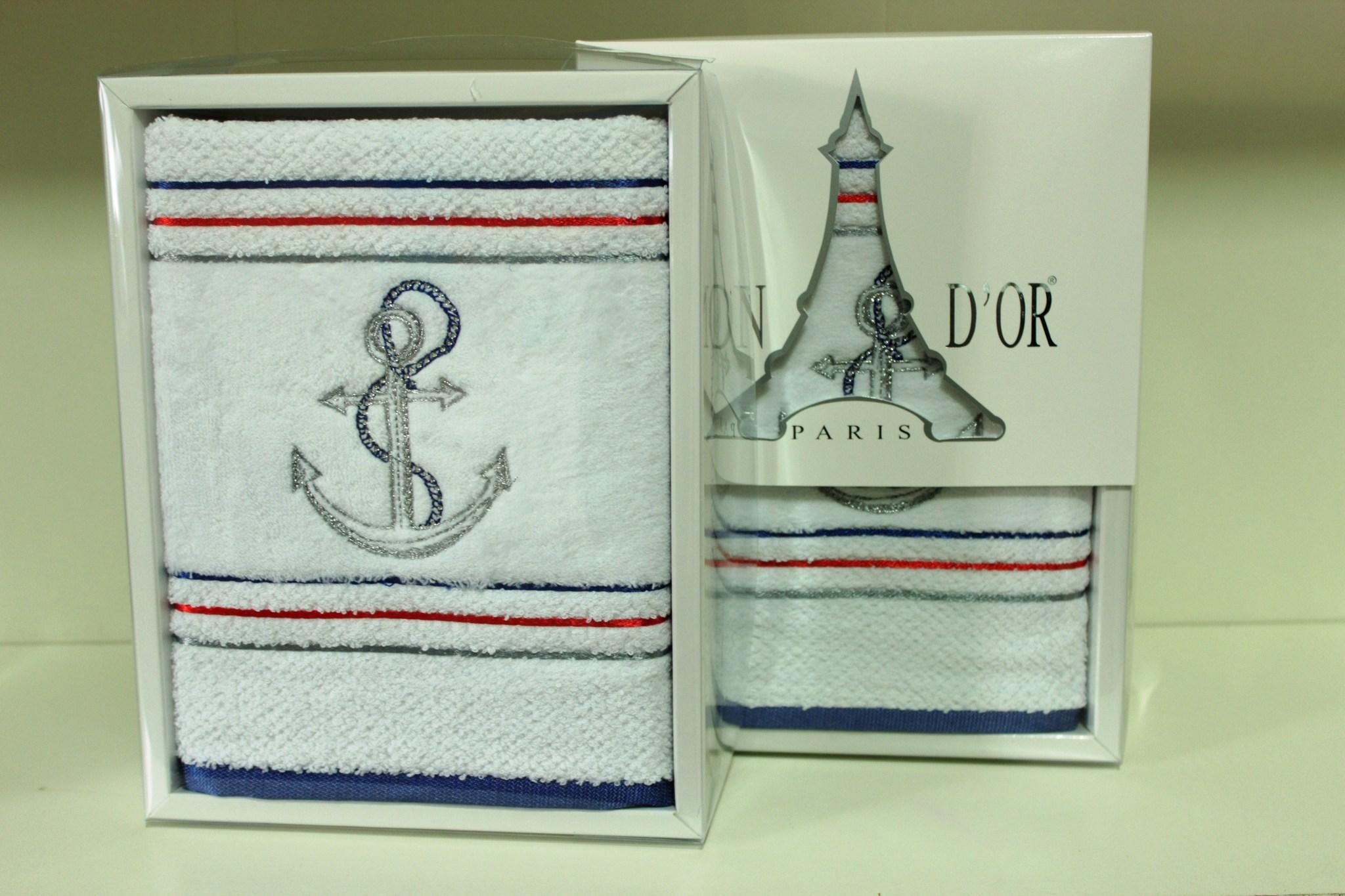 Полотенца MARINE  МАРИНЕ полотенце махровое в коробке Maison Dor Турция MARINE.JPG