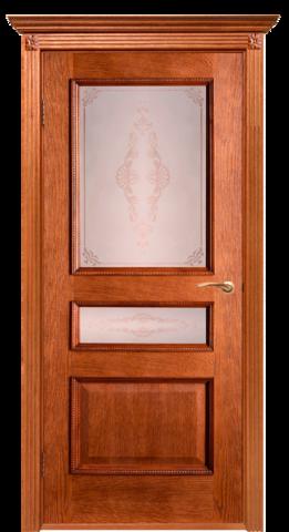 Дверь Двери Белоруссии Вена ПО, цвет орех-коньяк, остекленная