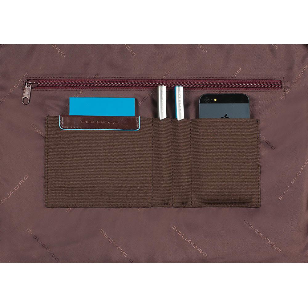 Сумка Piquadro Blue Square, цвет коричневый, 29,5x40x3,5 см (CA1618B2/MO)