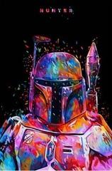 Постер Арт Звёздные войны Боба Фетт