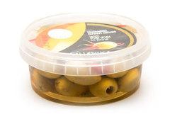Оливки фаршированные острым перцем пири-пири в рассоле Ellenika, 270г