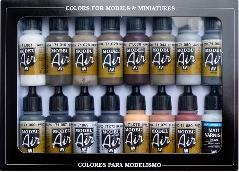 Model Air Weathering Set (16) 17 ml.