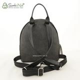 Рюкзак Саломея 1025 флок серый + черный