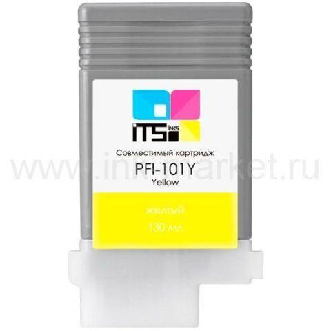 Совместимый картридж PFI-101Y для Canon imagePROGRAF 5100/6100/6200 Yellow Pigment, 130мл