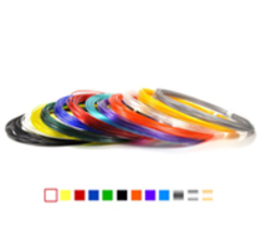 Набор PLA пластика для 3D ручки - 6 цветов, 10 метров каждый, 3мм