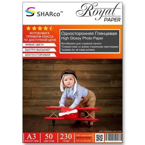 Фотобумага A3 SHARCO (230гр.,односторонняя, глянцевая, 50л.) [10]