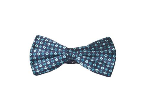 Галстук-бабочка Lorendi Capri синий квадратики