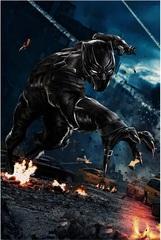 Постер Арт Первый мститель Противостояние Чёрная Пантера — Poster Art Captain America Civil War Black Panther