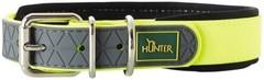 Ошейник для собак Hunter Convenience Comfort 50 (37-45 см)/2,5 см биотановый мягкая горловина  желтый неон