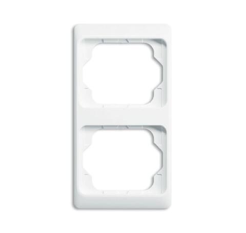 Рамка на 2 поста, вертикальный монтаж. Цвет Белый глянцевый. ABB(АББ). Alpha Exclusive(Альфа Эксклюзив). 1754-0-3054