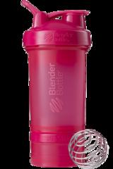 BlenderBottle ProStak, 650мл Шейкер с 2мя контейнерами, таблетницей и пружиной малиновый розовый