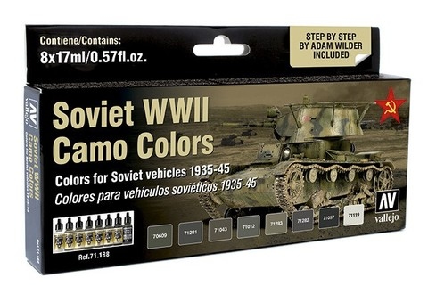 Model Air Soviet WWII Camo Colors (8) by Adam Wilder 17 ml.