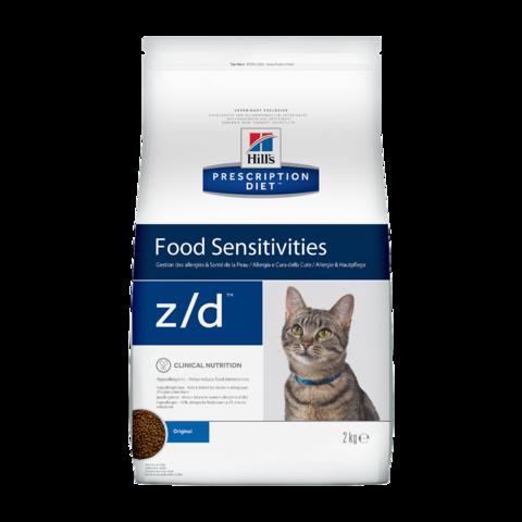 Hill's Prescription Diet z/d Food Sensitivities Сухой диетический гипоаллергенный корм для кошек при пищевой аллергии