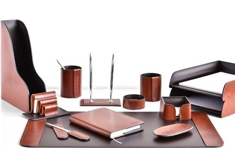 Кожаный набор руководителя 13 предметов , FG Toscana Tan/шоколад