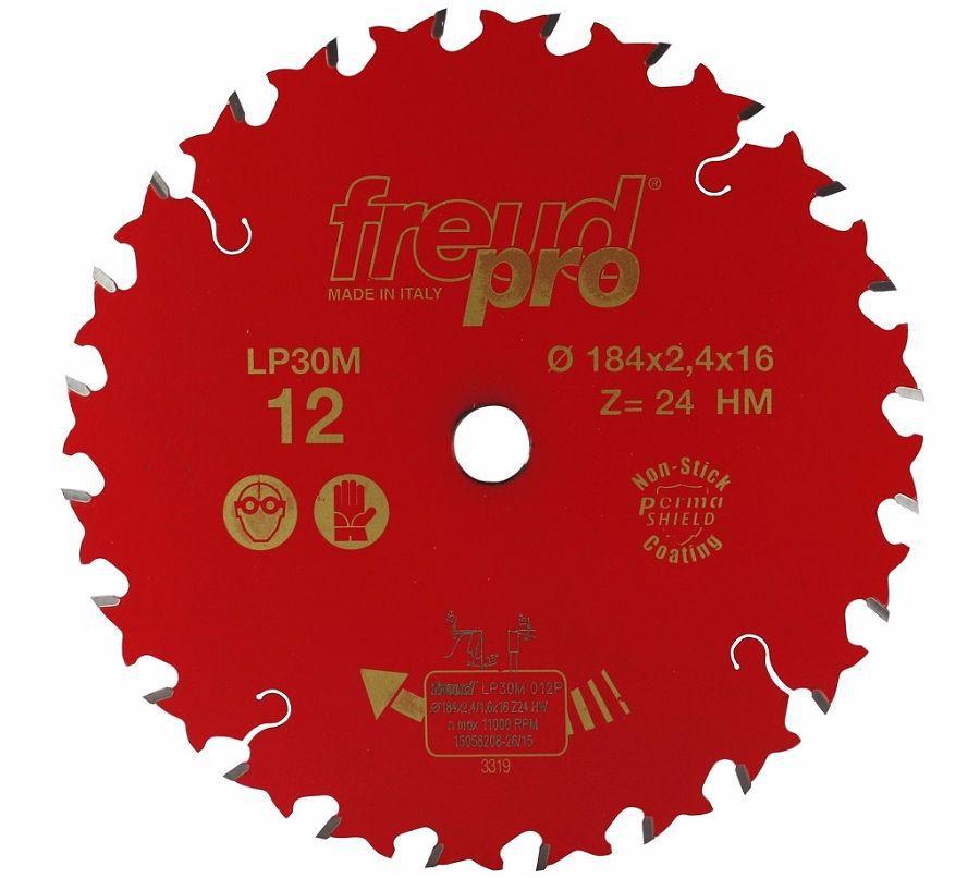 Диск пильный LP30M по дереву 184х16 мм, 24 зуб. FREUD PRO Freud LP30M012
