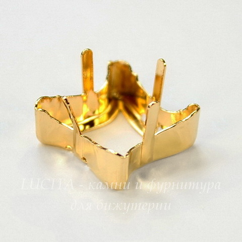 4485/S Сеттинг - основа для страза Twister 17 мм (цвет - золото)