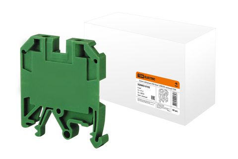 Зажим наборный ЗНИ-6мм2 (JXB50А) зеленый TDM