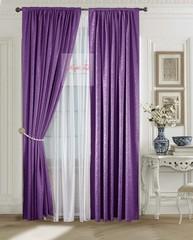 Комплект штор Лоран (фиолетовый). Шторы из стриженного бархата.
