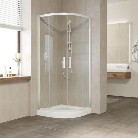 Душевой уголок Vegas Glass ZS профиль белый, стекло прозрачное
