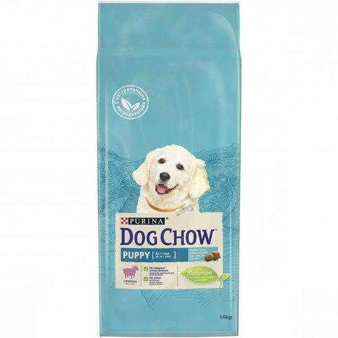 DOG CHOW Puppy сухой корм с ягненком для щенков до 1 года 14 кг