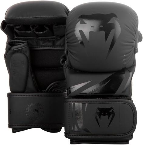 Перчатки для ММА Venum Challenger 3.0 Sparring Gloves Black/Black