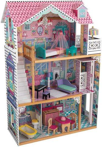 KidKraft: Трехэтажный дом для кукол Барби Аннабель с мебелью 65079 — Annabelle Dollhouse — КидКрафт