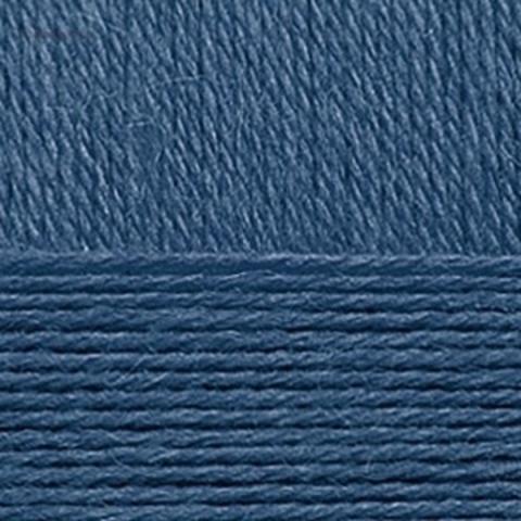 Пряжа Смесовая (Пехорка) 15 темно-голубой купить в интернет-магазине недорого klubokshop.ru