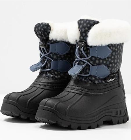 Ботинки зимние Kickers Sealsnow Black blue flowery