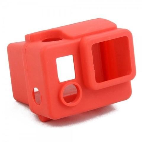 Силиконовый чехол для бокса GoPro 3+/4 (Красный)