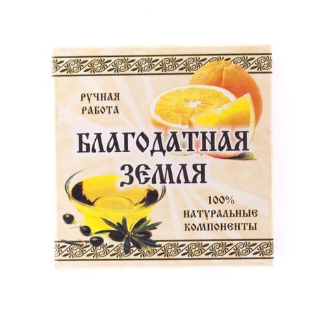 Мыло натуральное оливковое Апельсин, 75 г