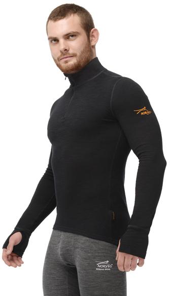 Комплект термобелья с шерстью Norveg Hunter Black мужской бок