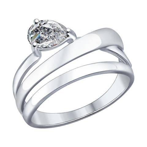 Кольцо из серебра с фианитами от SOKOLOV арт.94012046