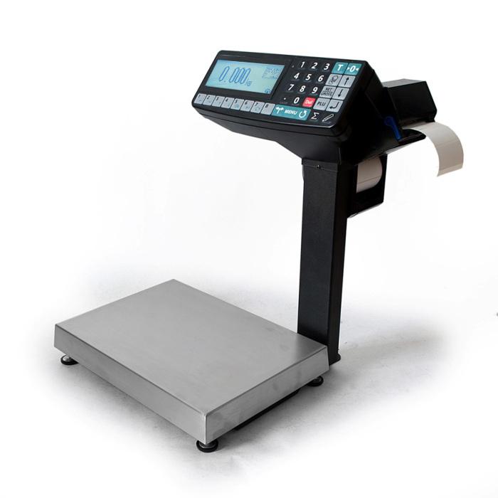 Весы с печатью этикеток Масса-К MK-R2P10-1 с устройством подмостки и со вторым дисплеем 001