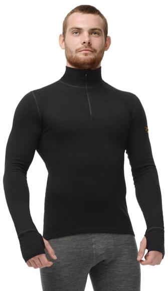 Комплект термобелья с шерстью Norveg Hunter Black мужской перед