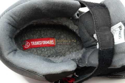 Зимние сапоги Трансформеры (Transformers) с мембраной для мальчиков, цвет черный. Изображение 13 из 13.