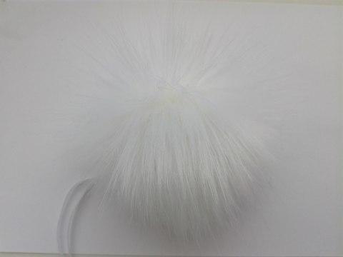 Помпон искусственный белый