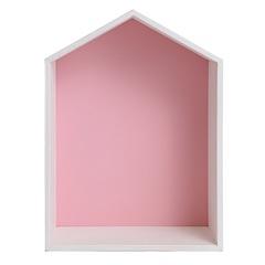 Полочка-домик для детей, розовая