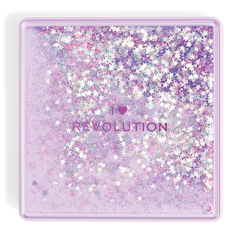 Палетка теней Makeup Revolution I Heart Makeup Glitter Palette, Fortune Seeker