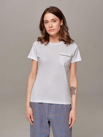 Женская белая футболка Eleventy - фото 1