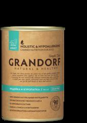 Grandorf Turkey & Quail консервы для собак с Индейкой и Куропаткой