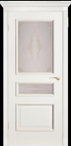 Дверь Двери Белоруссии Вена ПО, цвет ясень белый, остекленная