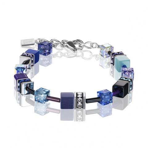 Браслет Coeur de Lion 2838/30-0708 цвет синий, чёрный. голубой