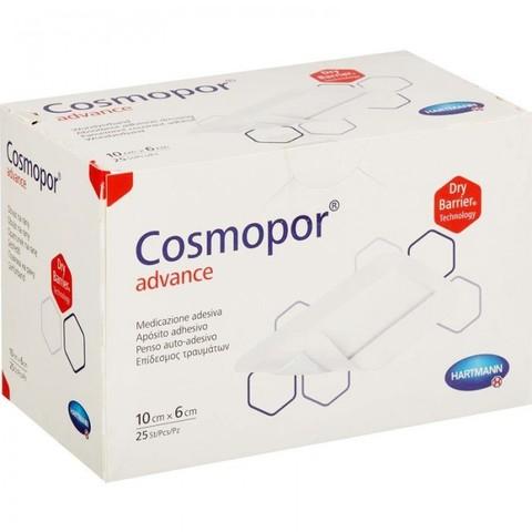 Космопор Эдванс - Cosmopor Advance, пластырная повязка супервпитывающая, 10х6 см