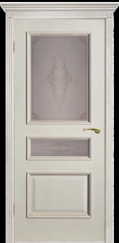 Дверь Двери Белоруссии Вена ПО, цвет слоновая кость, остекленная